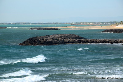 Looking west towards Grau d'Agde and mouth of River Herault