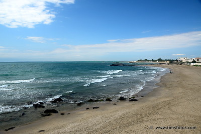 Looking from Rochelongue west towards Grau d'Agde