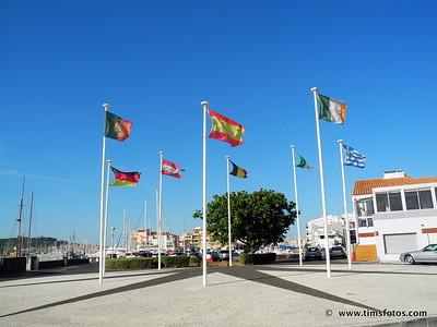 Cap d'Agde Marina - note 2 Irish flags.