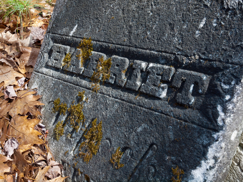 Harriet Obscured<br /> Half-buried grave marker in a small cemetery on South Rd in Deerfield, NH