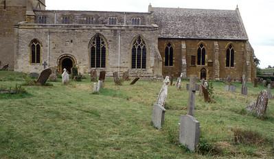 Church and graves at Tredington England 2004