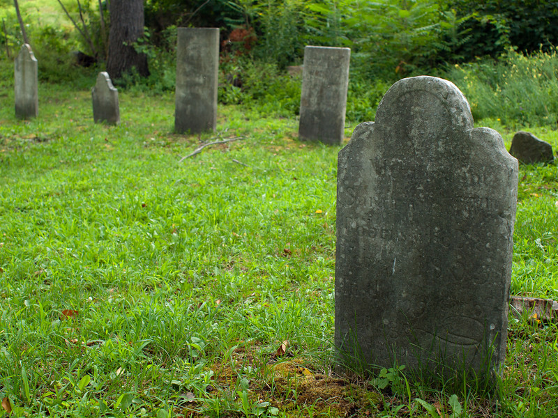 Small, nameless cemetery on Rte 423 in Stillwater, NY. Dates from early to late 19th century.  OM Zuiko 24mm f2.8 lens, probably f4 or 5.6.