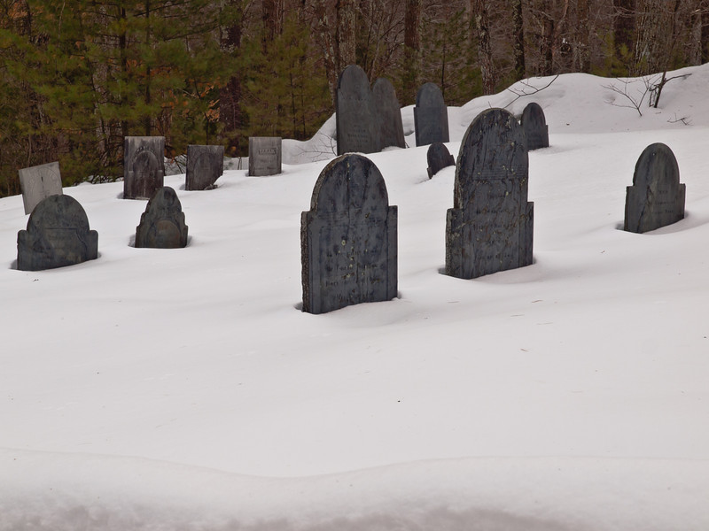 Beals Rd cemetery in Bedford, NH.  Tough winter shoot, but I like it well enough.  Had to stand on a 6-foot snowbank to get it and couldn't get closer or I'd sink!