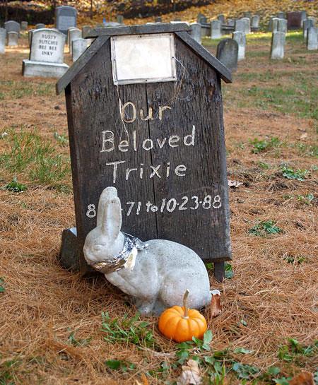 Trixie the bunny.<br /> Pet Cemetery, Methuen MA<br /> November 2005