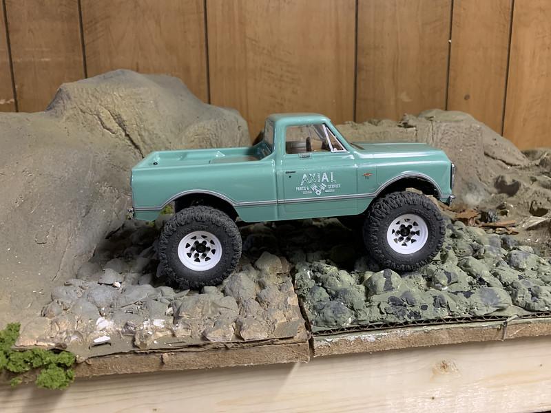 SCX24 Chevy C10 full droop