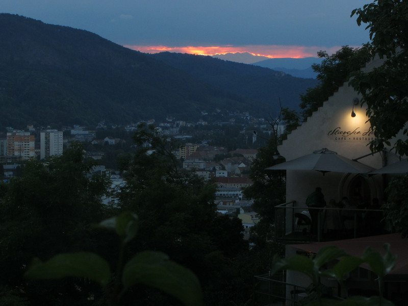 Starcke-Haus nach Sonnenuntergang