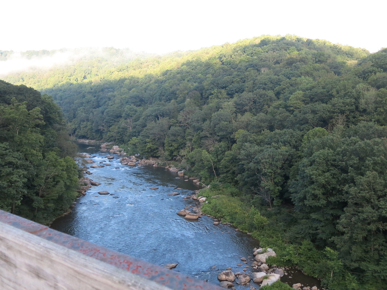 Upstream view of the Yough from High Bridge