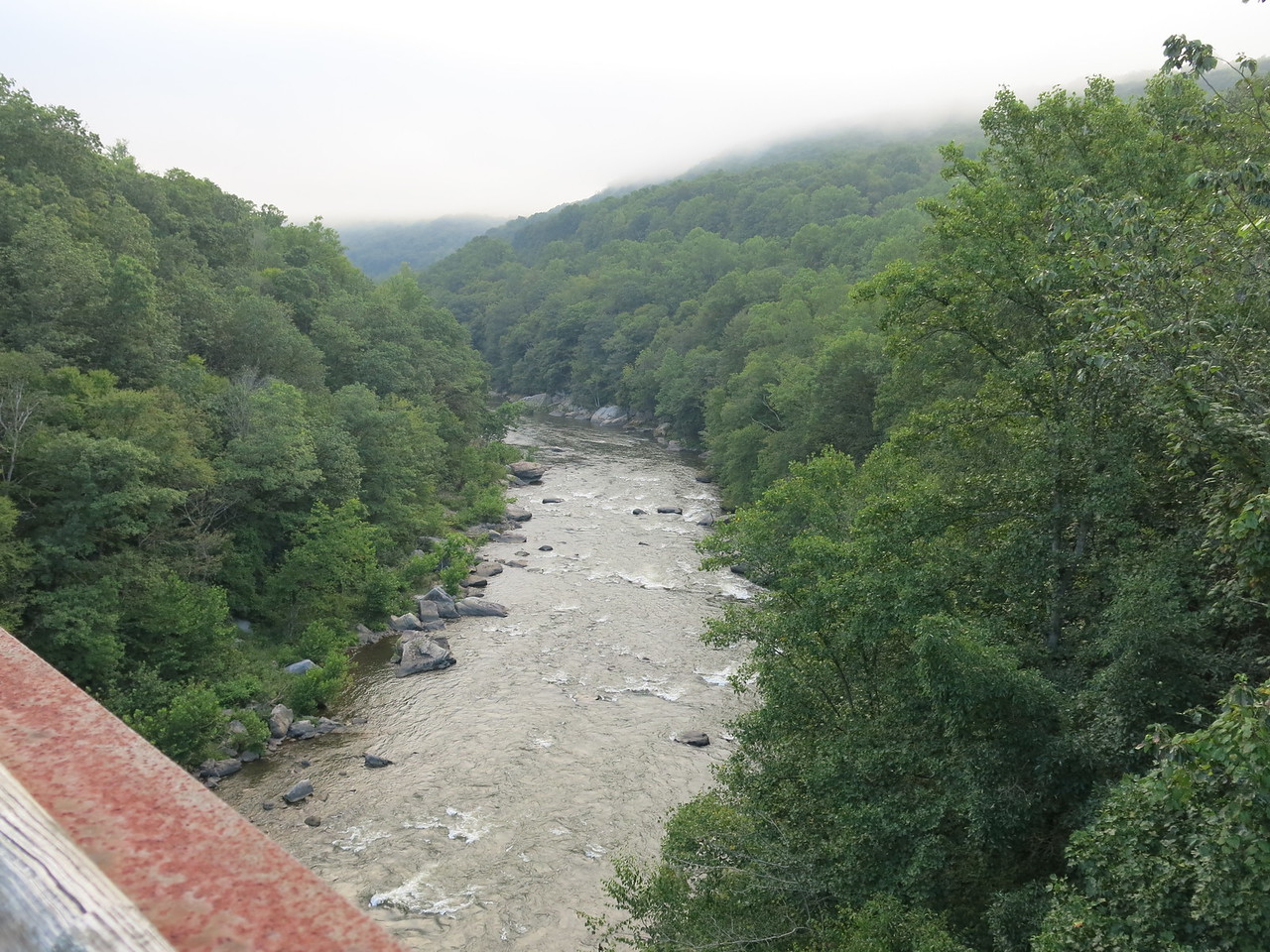 The Yough Gorge seen from High Bridge looking downstream