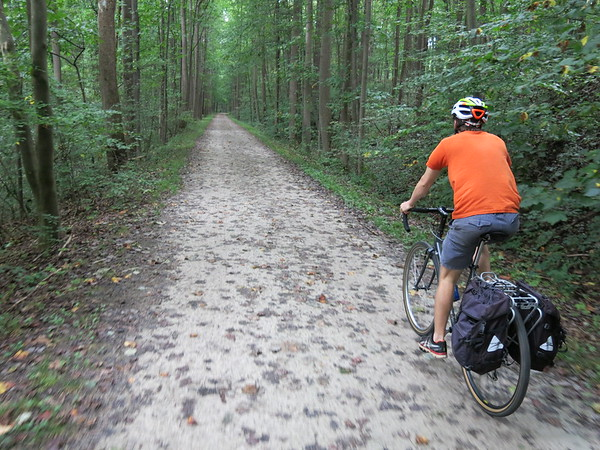 Video, GAP Trail Day 2 - Kyle between Ohiopyle and Confluence