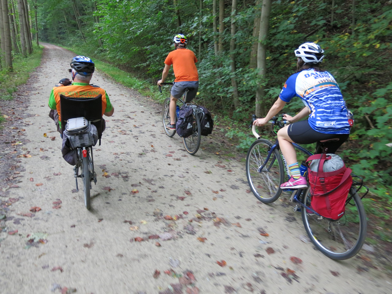 Riding the GAP along the Yough River at about MP 70.5