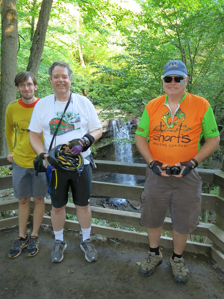 Morning of Day 2, Tuesday, August 30:  Cucmber Falls, 0.9 mile from the trail at Ohiopyle, MP 71.5