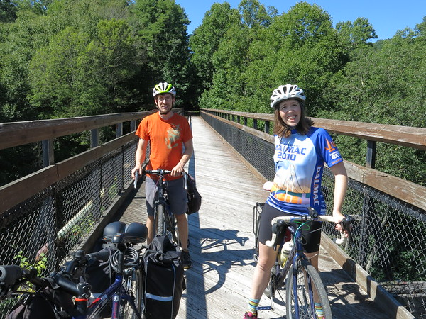Video, GAP Trail Day 2 - Kyle and Ann, High Bridge at Pinkerton Tunnel, MP 52