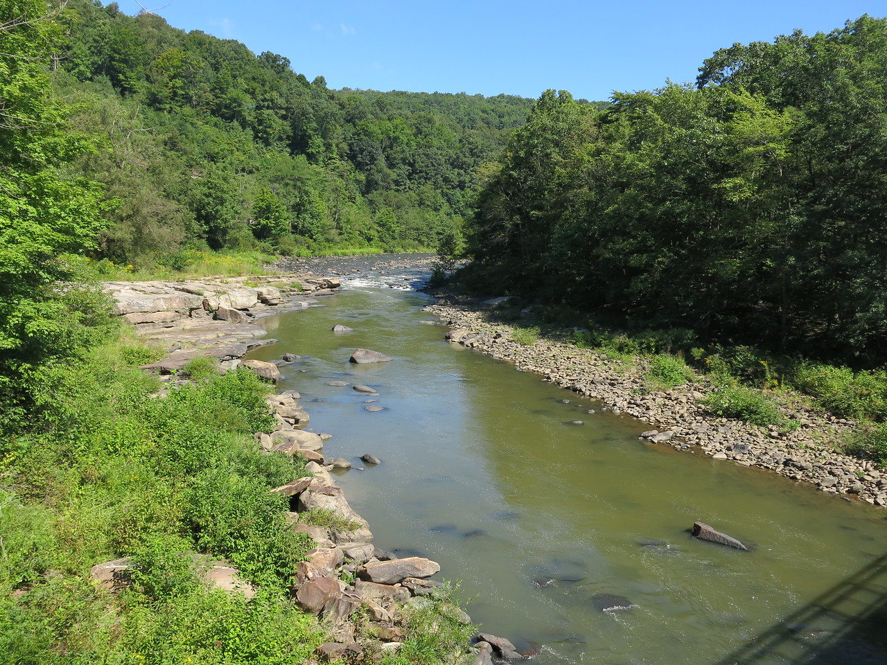 Casselman River in an upstream view from the Low Bridge