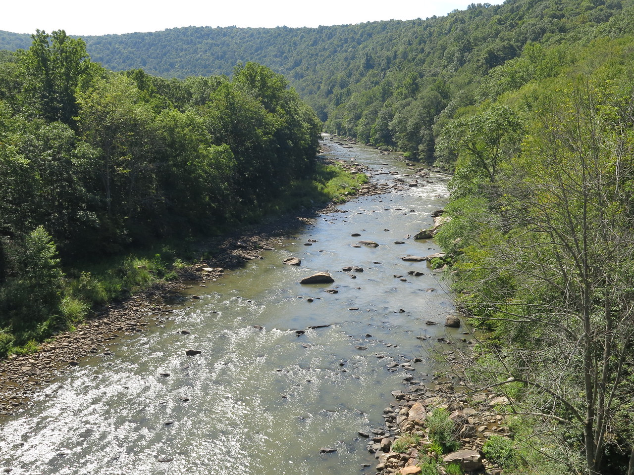 The Casselman River makes a big horseshoe curve around the Pinkerton Horn