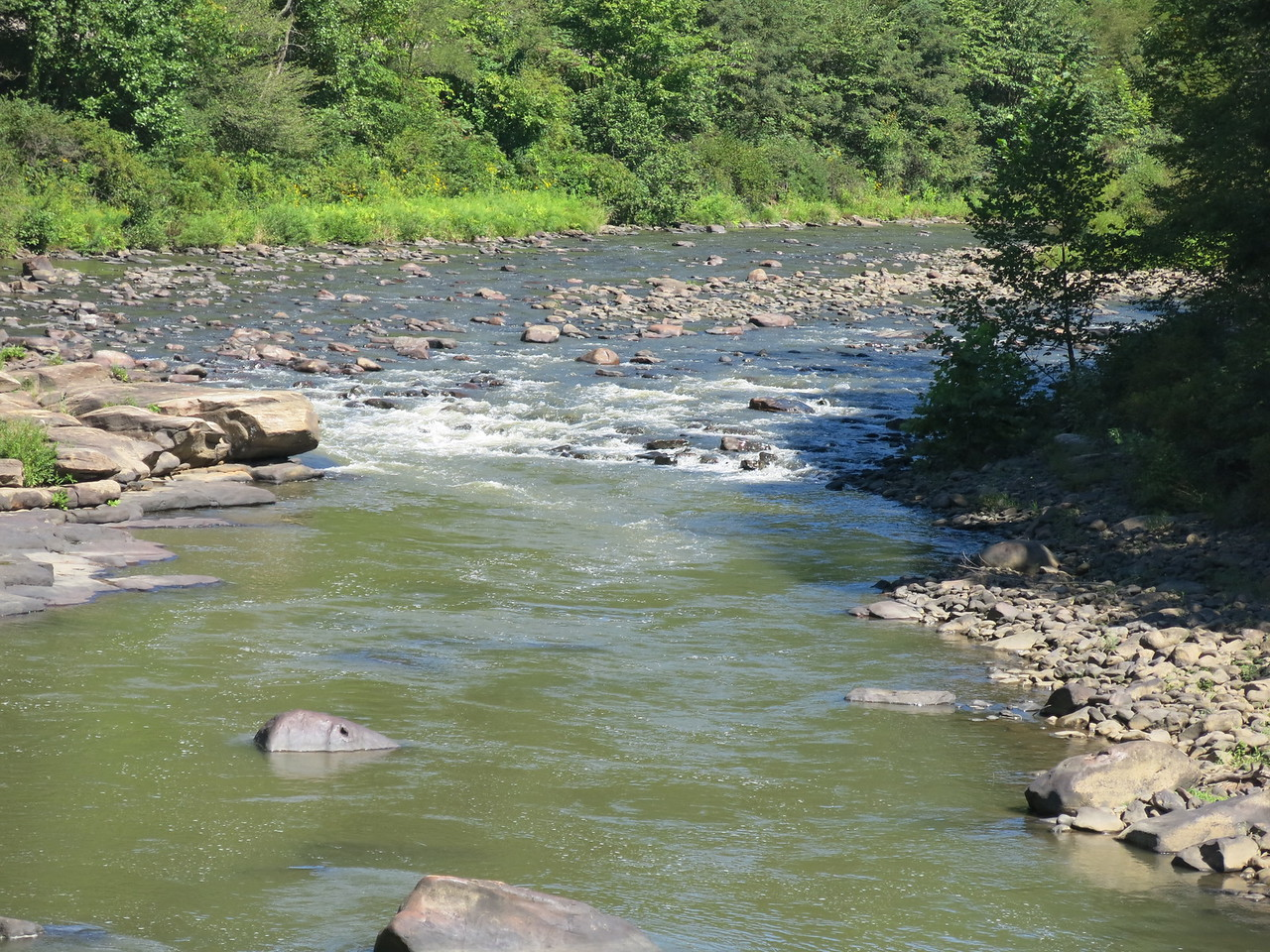 Close-up view of some rapids in the Casselman