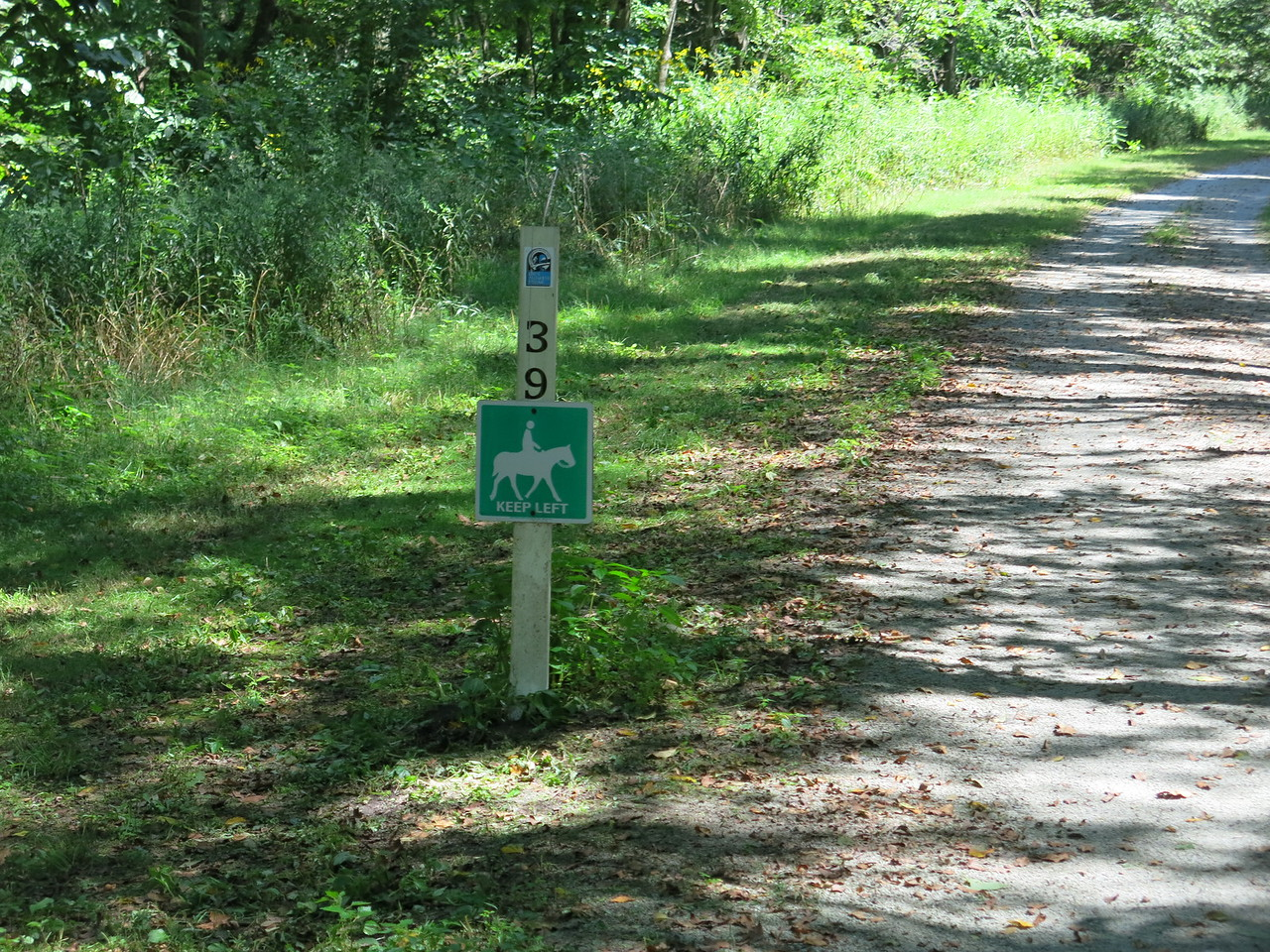 On this section, we share the trail with horses,  MP 39