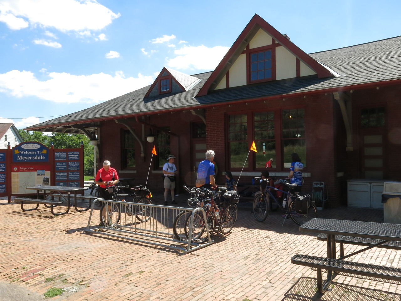 Meyersdale train station and Visitor Center at MP 32