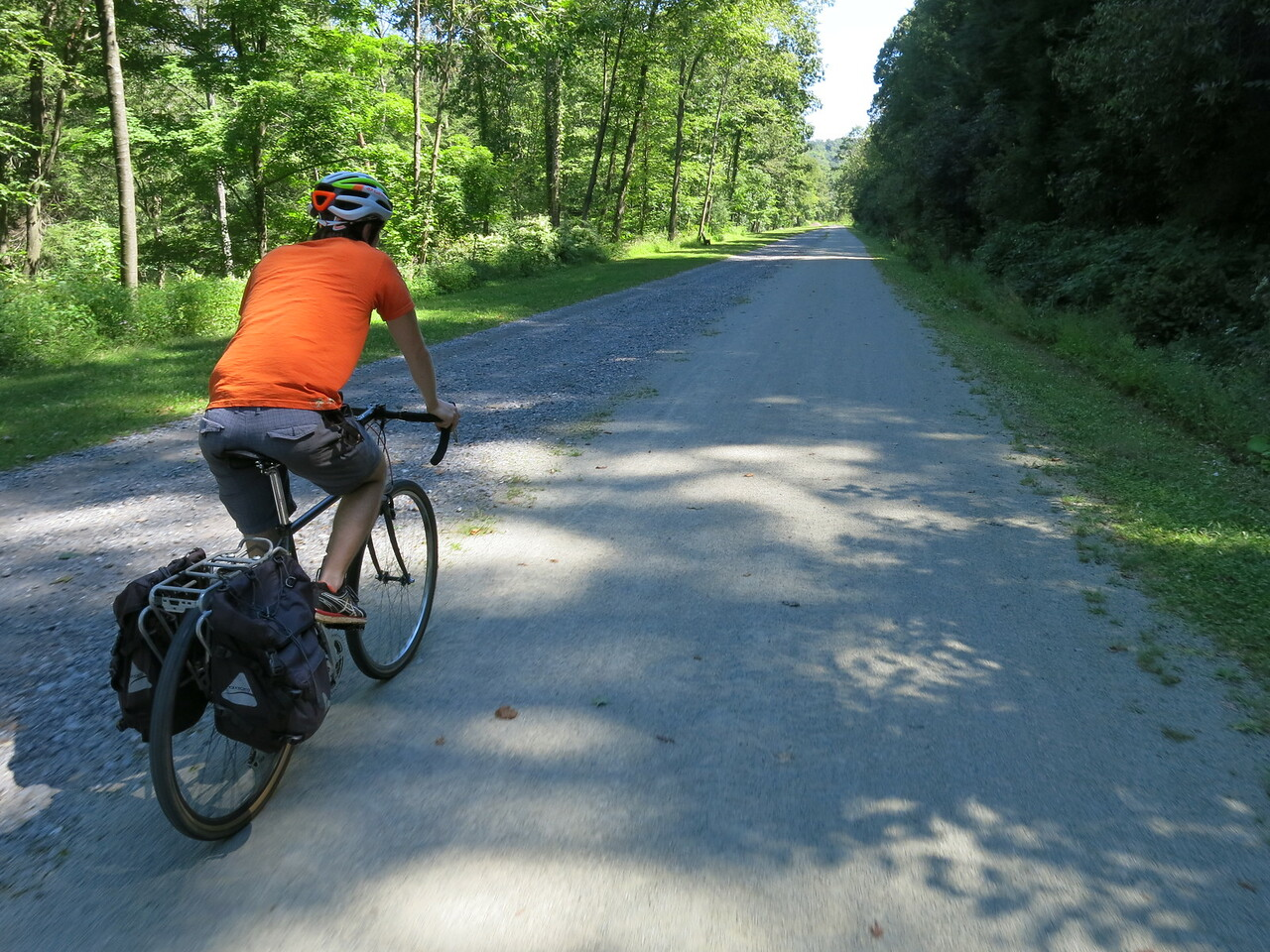 A short section of paved trail as we leave Rockwood at about MP 43.5