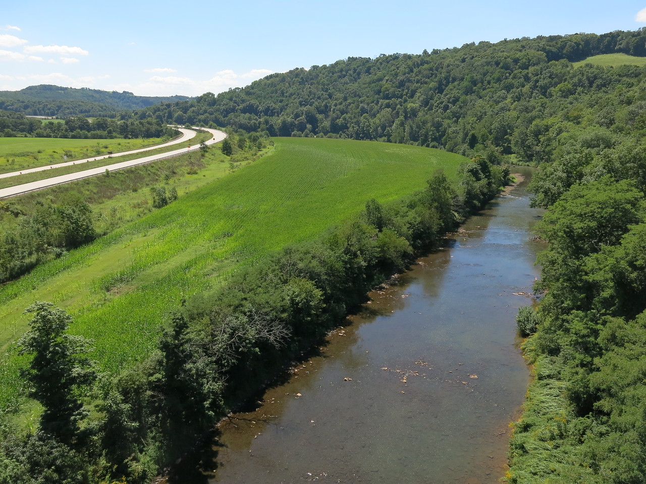 US Highway 219 adjacent to the Casselman River