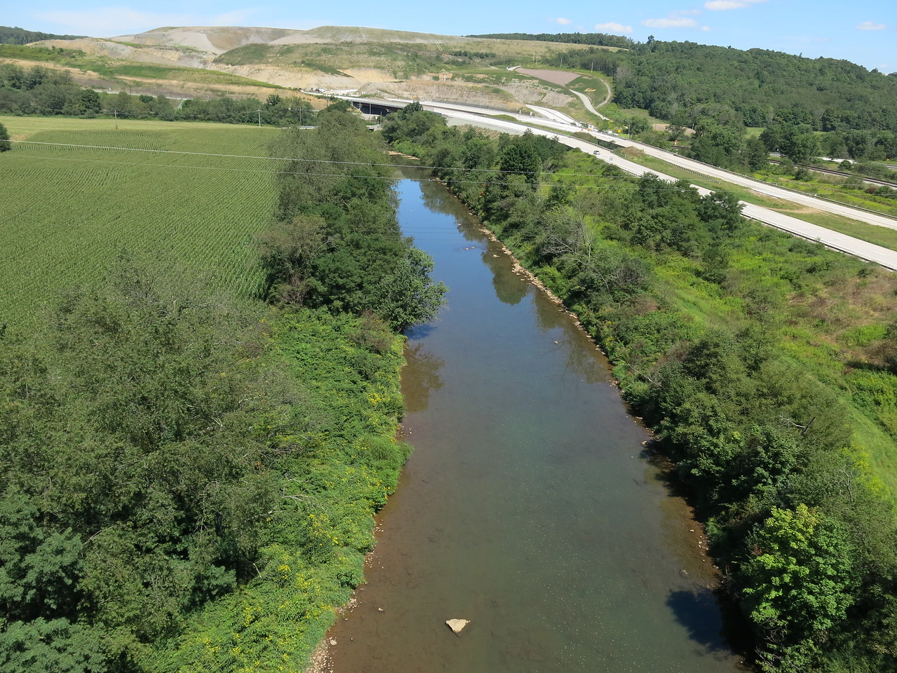 Downstream view of Casselman River and US Highway 219
