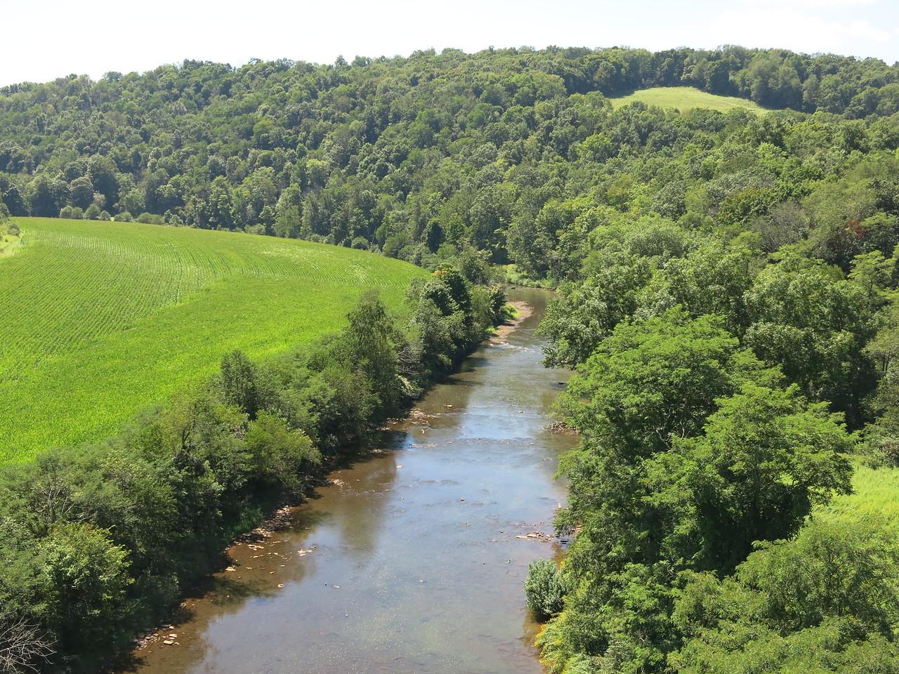 Cassleman River, 100 feet below the Salisbury Viaduct