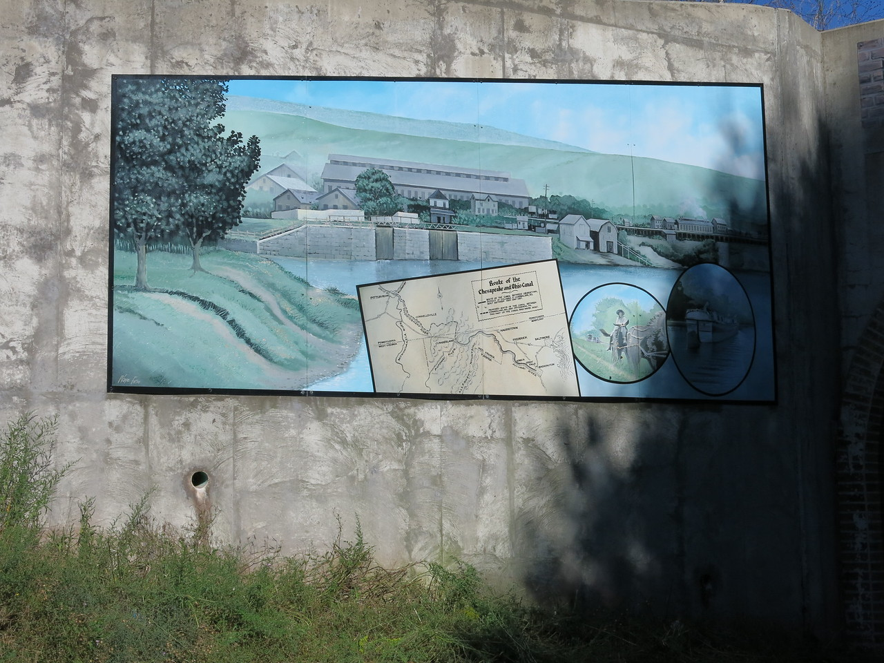 A mural at the south portal of the tunnel at the divide