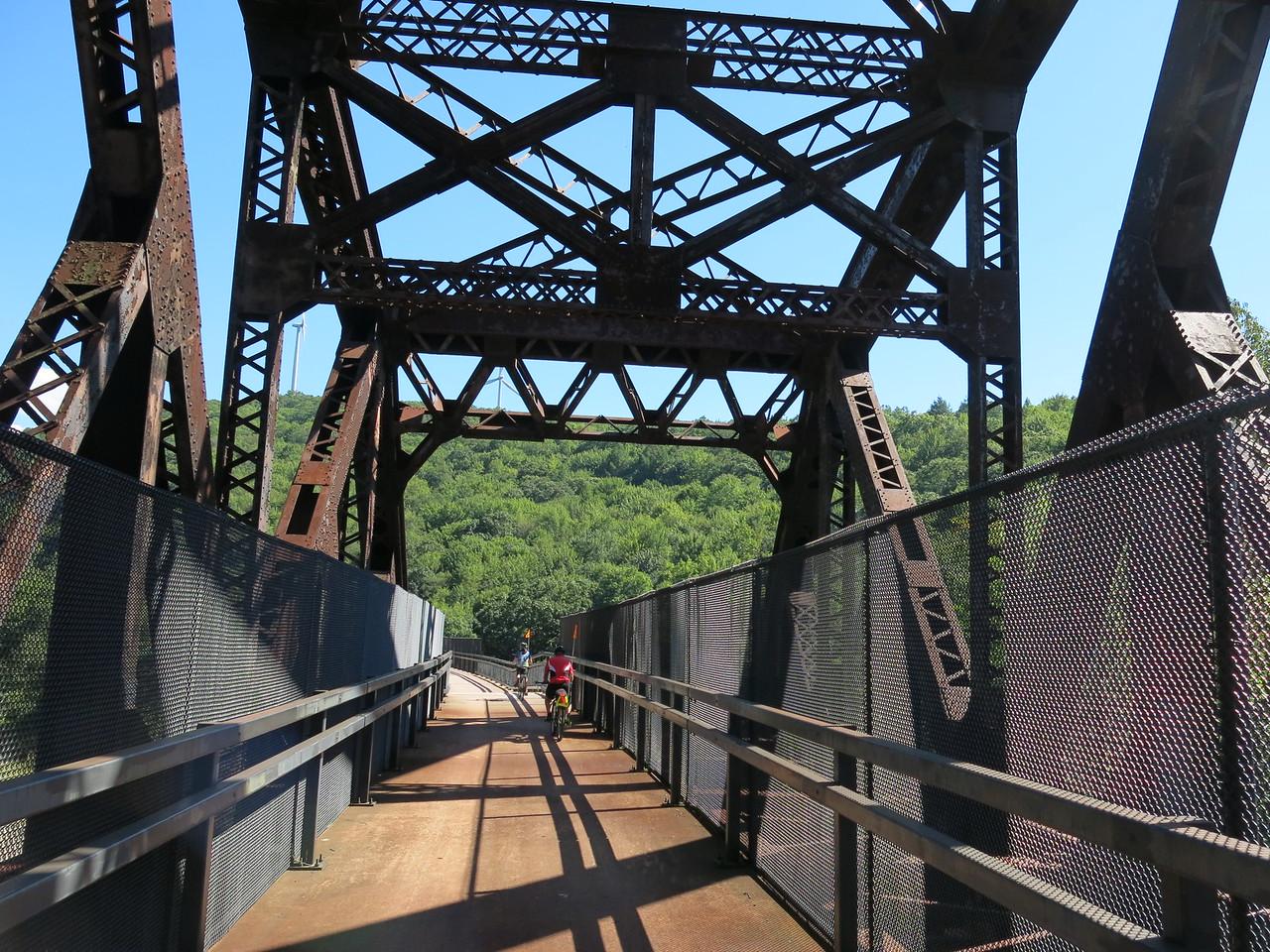 Leaving the truss bridge section of Keystone Viaduct