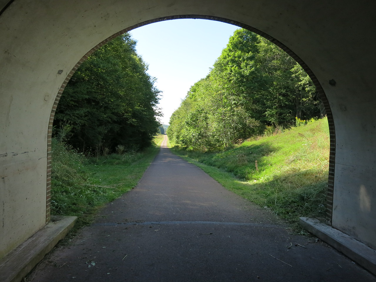 View back out the north portal