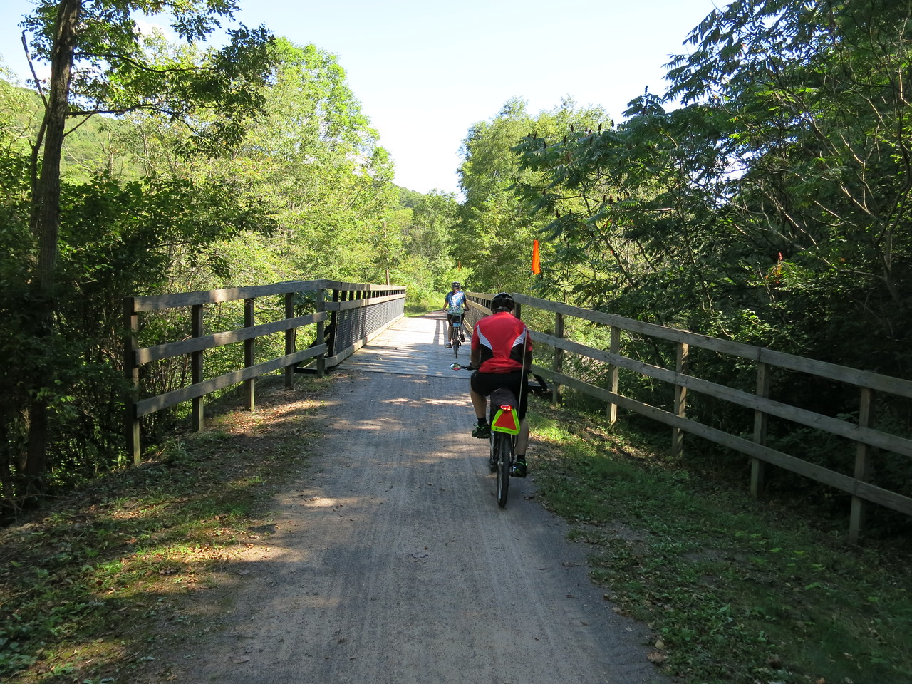 Leaving Meyersdale, the GAP trail follows Flaugherty Creek to the Eastern Continental Divide