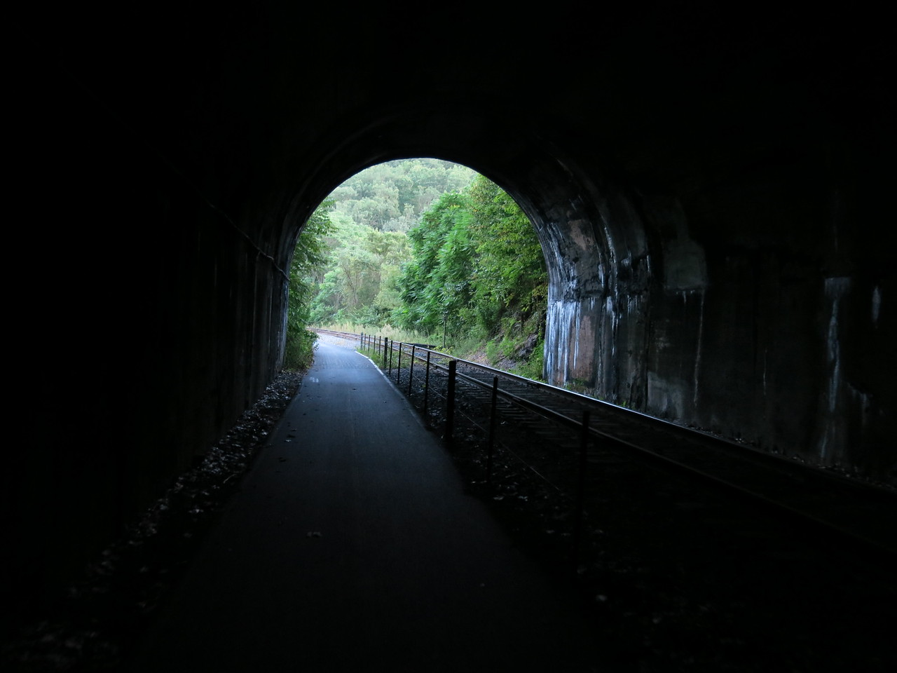 Leaving the south portal of Brush Tunnel