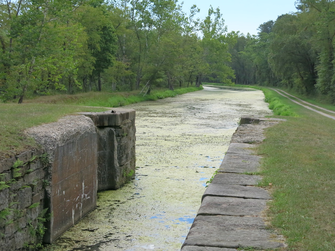 Downstream view from Lock 71 at MP 167