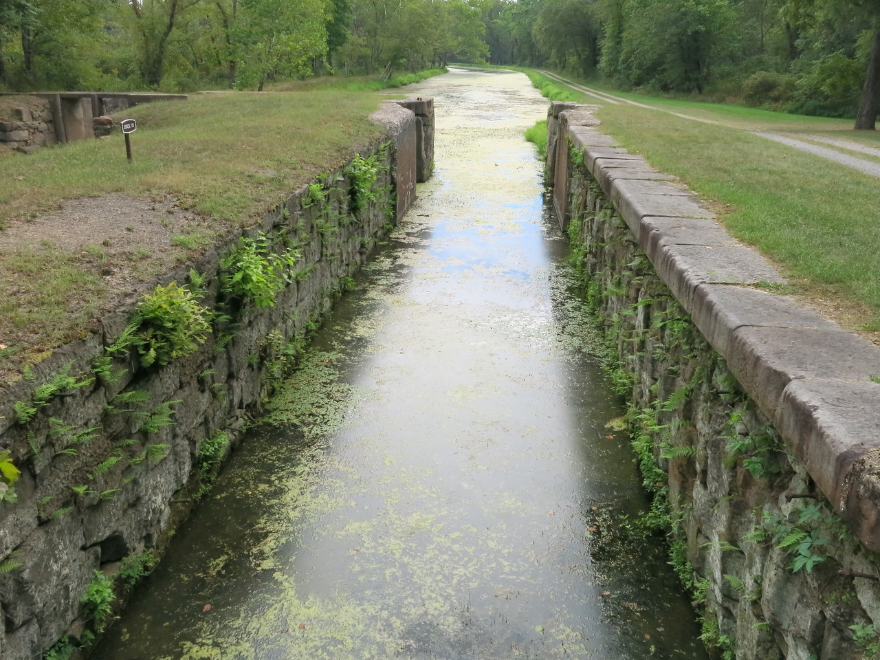 Lock 71 in a downstream view