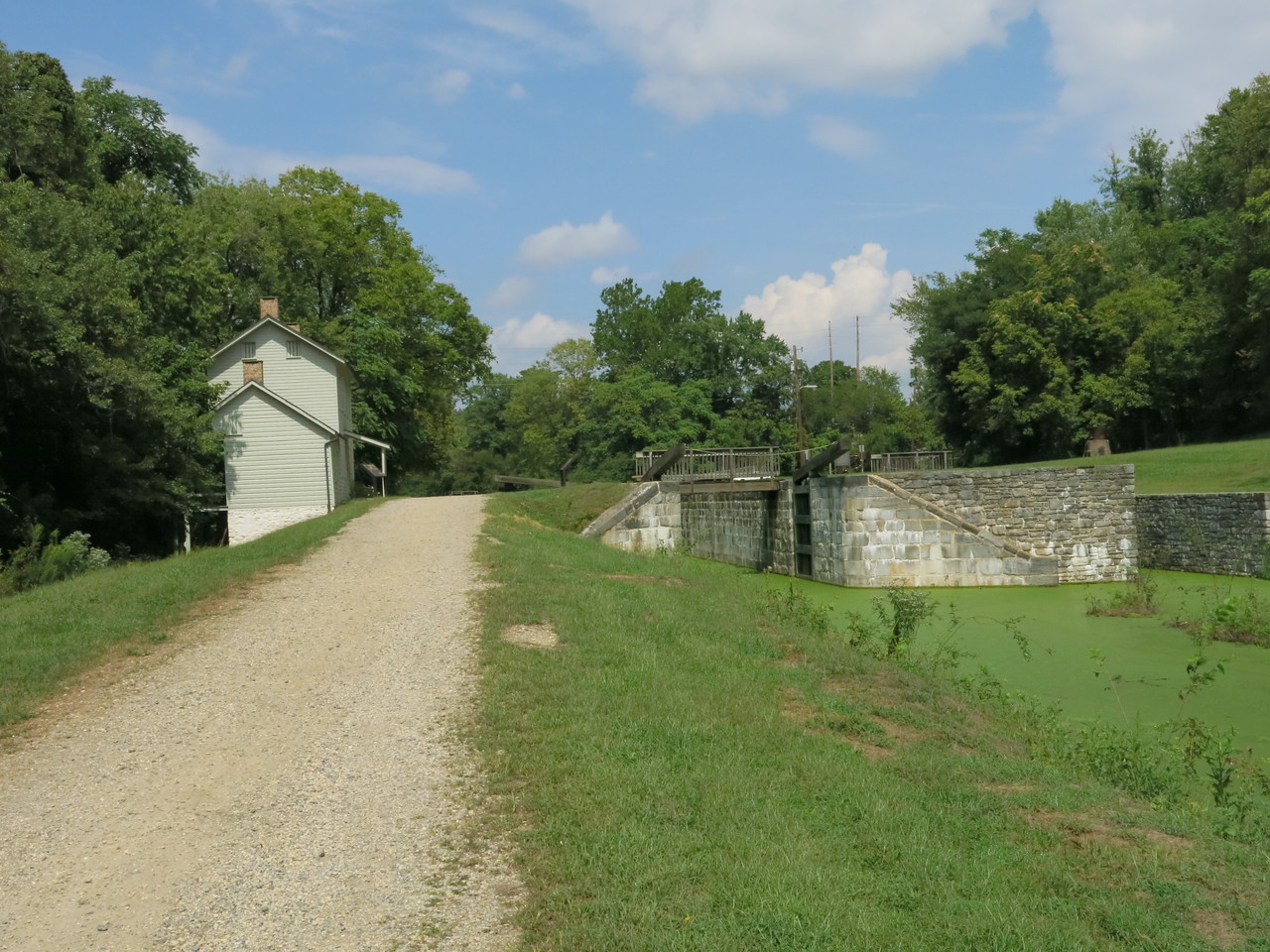 Lock 44, Lockhouse and Towpath at MP 99.3