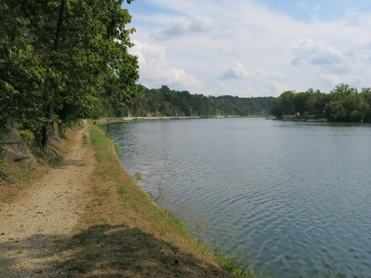Towpath along the Potomac River at Big Slackwater at about MP 88.5
