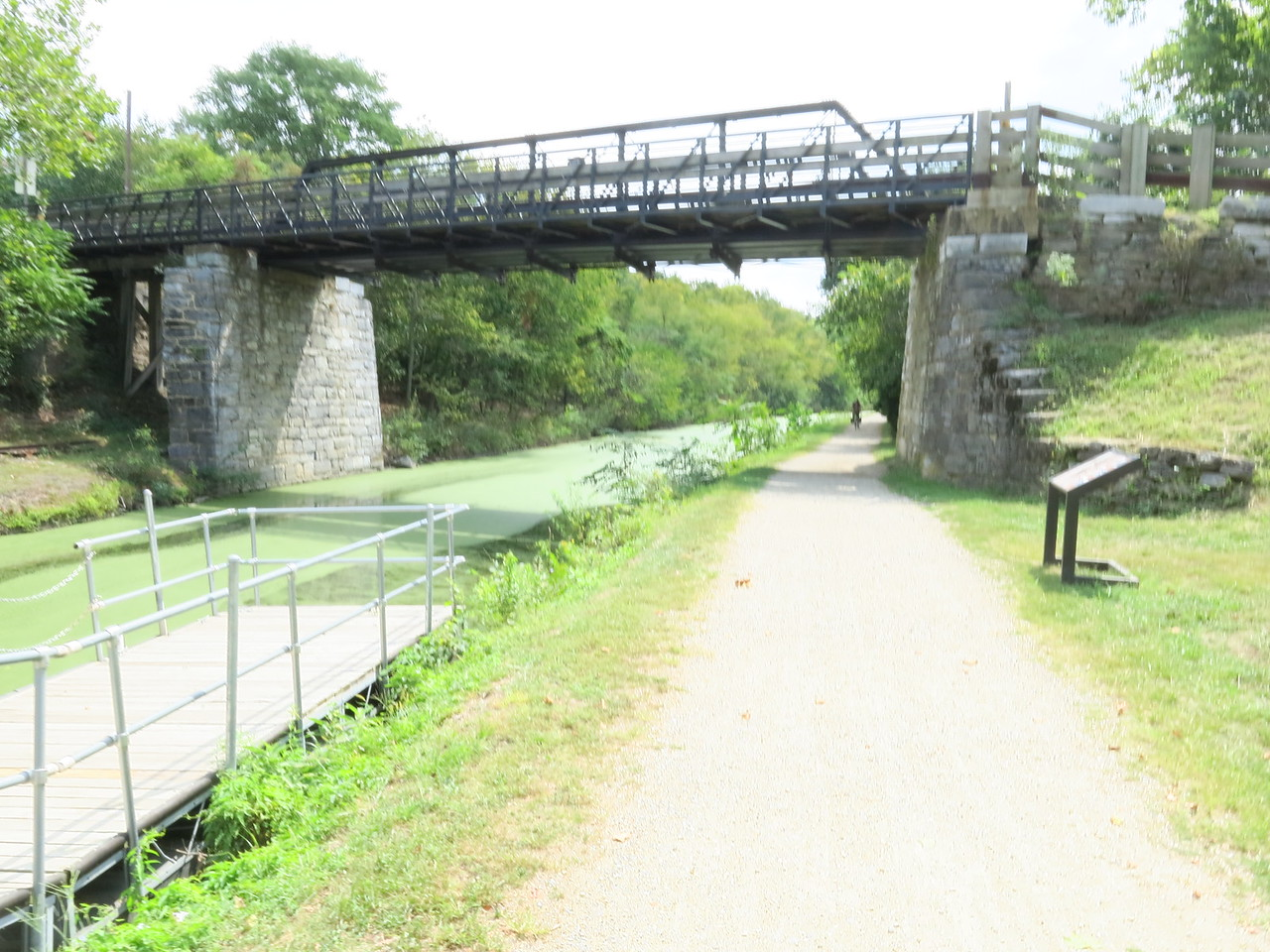 Bollman Bridge over the Canal and Towpath in Williamsport