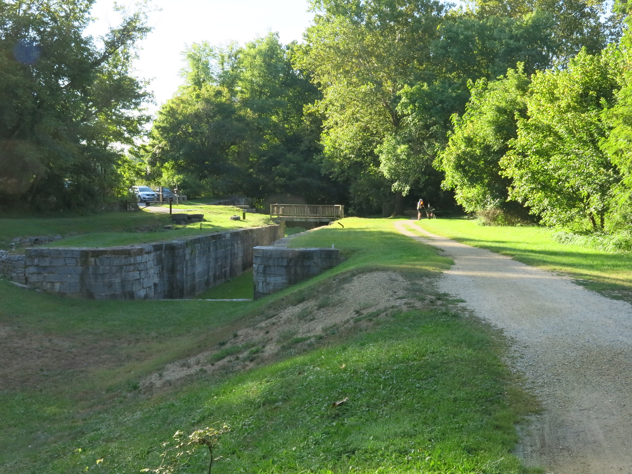 Lock 38 as seen from the towpath