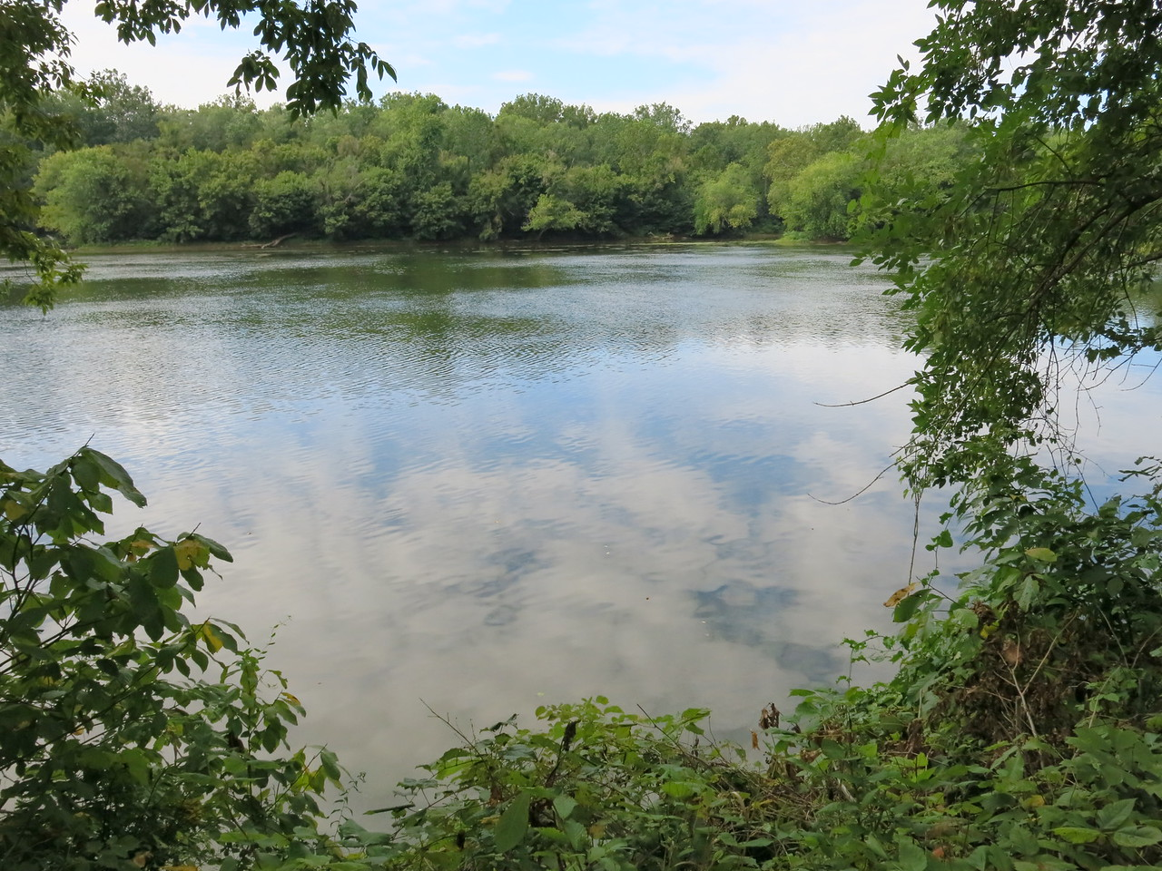The Potomac is calm