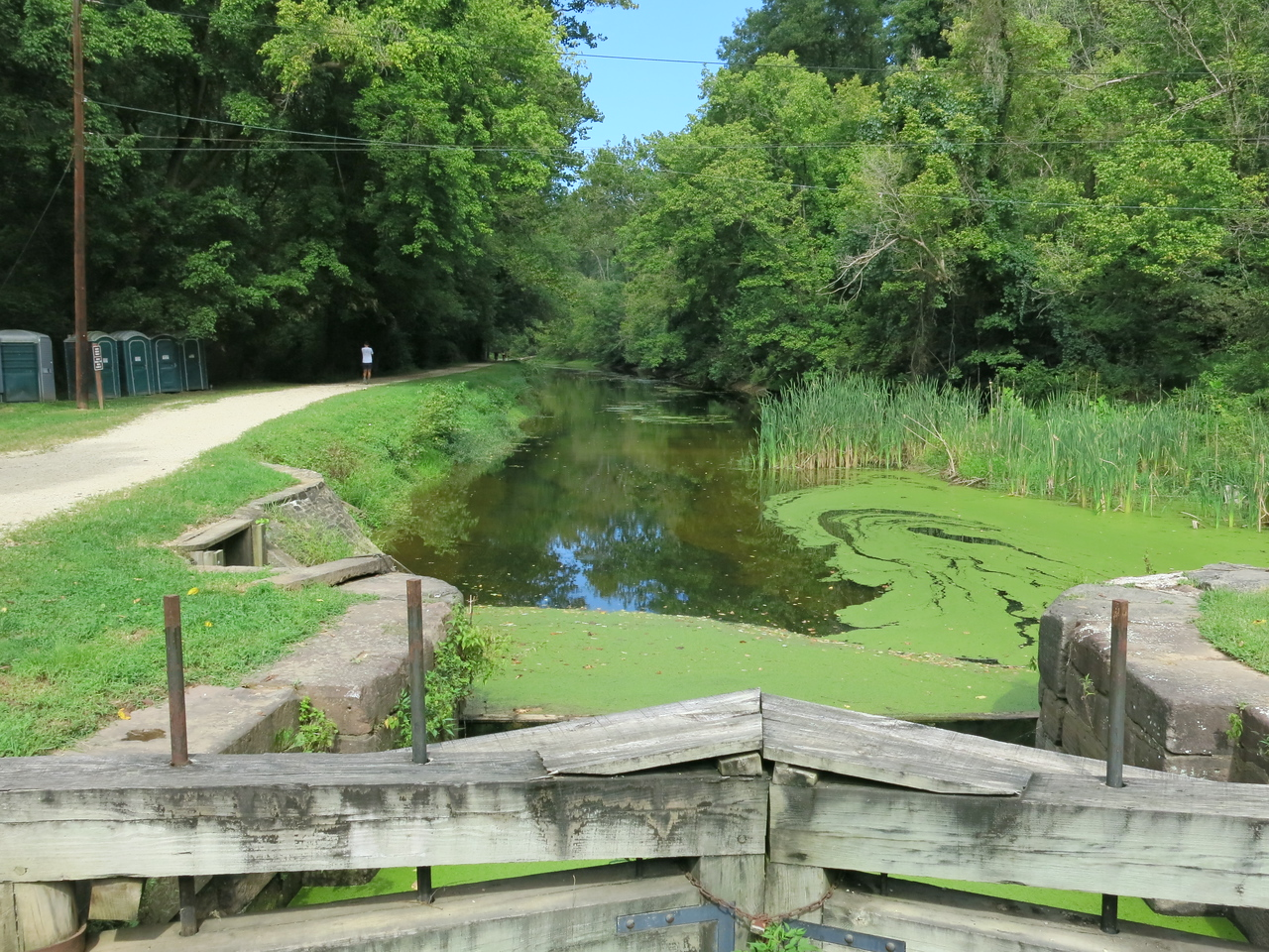 An upstream view of the Canal from Lock 21