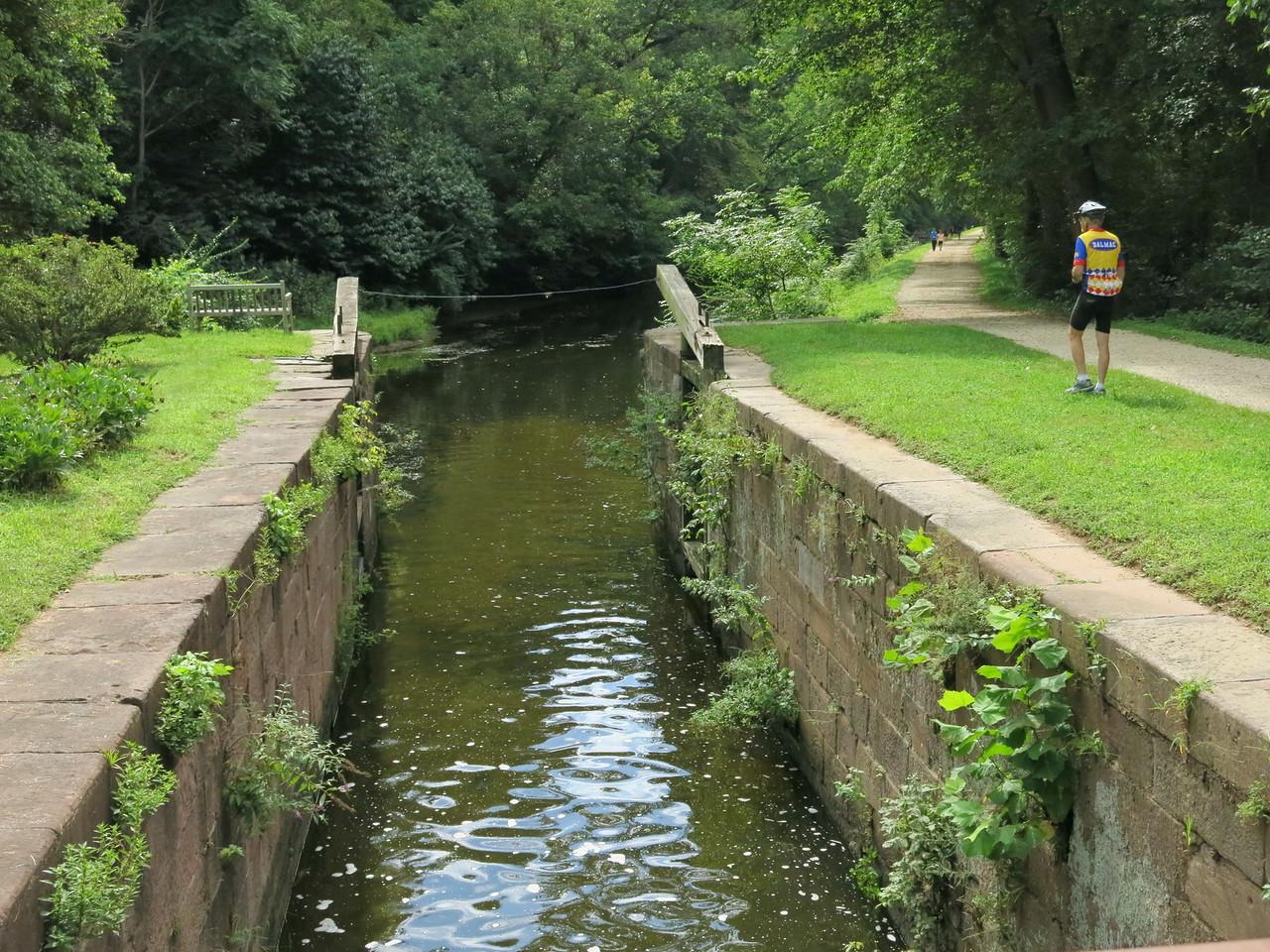 Looking downstream through Lock 21