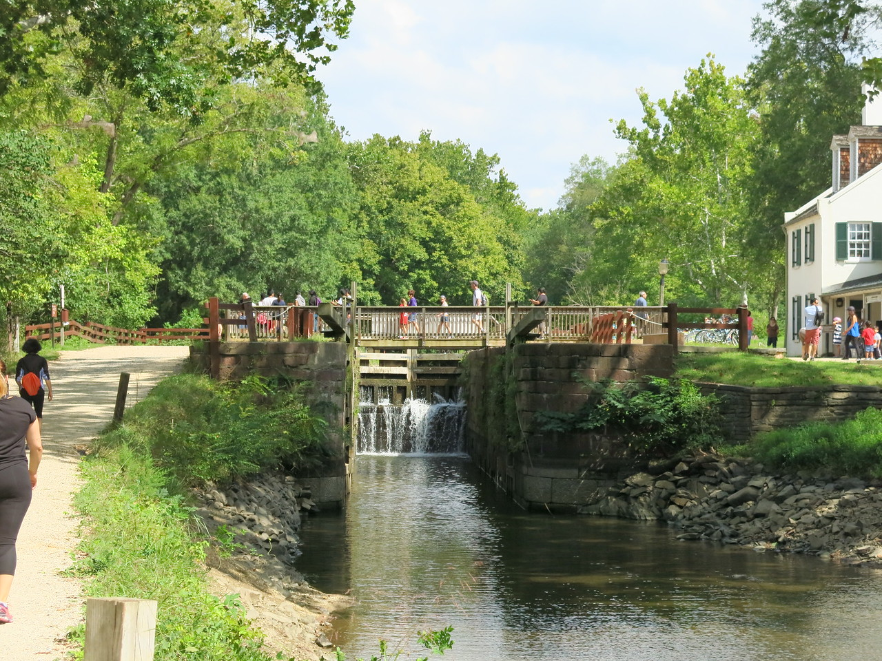 A view through Lock 20 to the upstream gate
