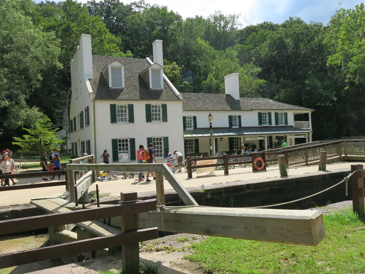 Another view of Lock 20 and the Great Falls Visitor Center