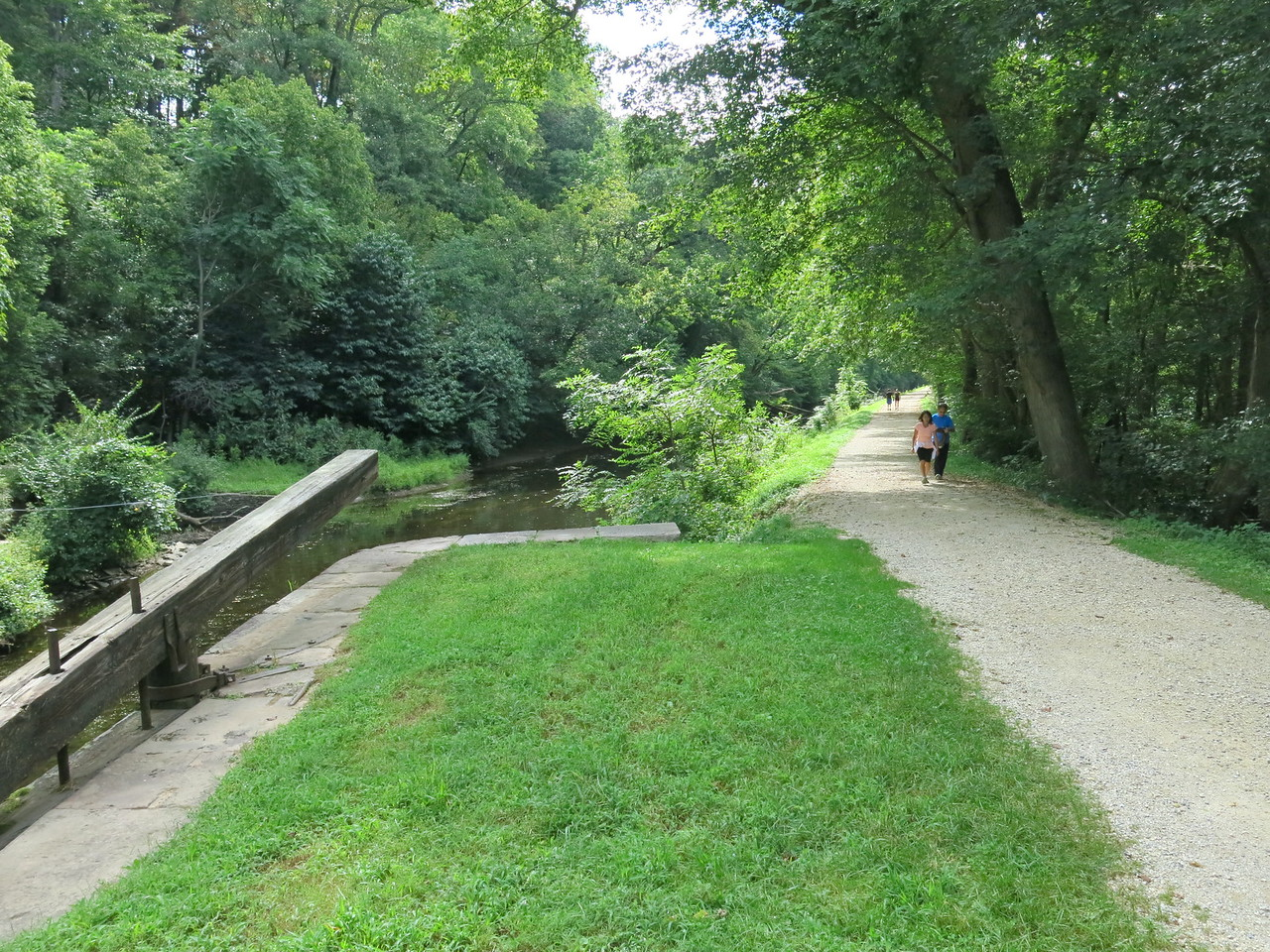 The towpath downstream from Lock 21