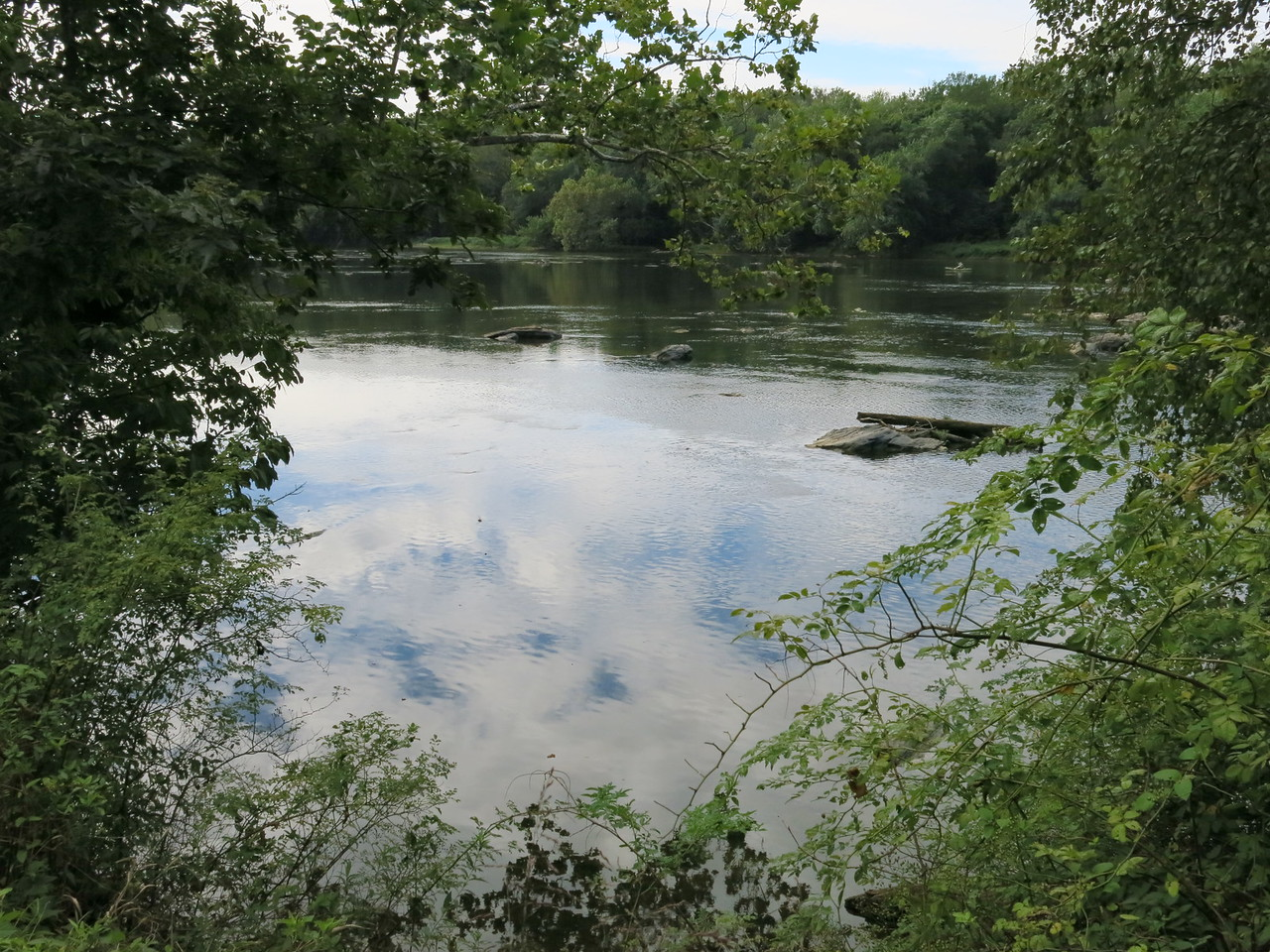 Calm and shallow Potomac River