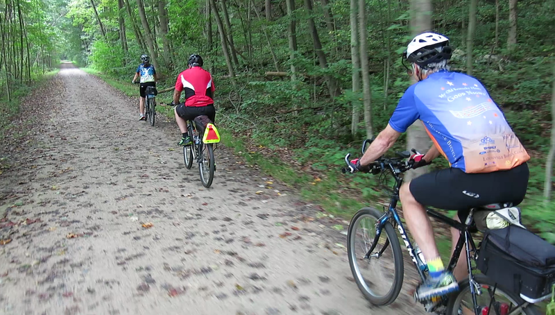 Video, GAP Trail Day 2 - Sonia, Fred and Glenn between Ohiopyle and Confluence