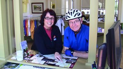 Still taken from filming of John Urman's GAP video, 3/9/10.  Betsy Manderino & Bill Hurrianko (courtesy John Urman)