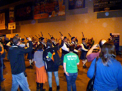 Bagpipe corps traditionally gets the fest started off.