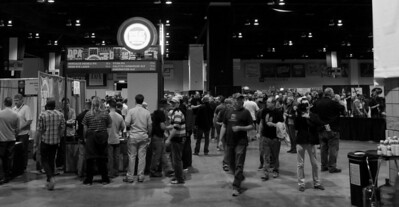 Crowd shot with local fave Denver's own Great Divide's booth.