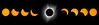 "48"" x 12"" montage, Great American Eclipse, August 21, 2017"