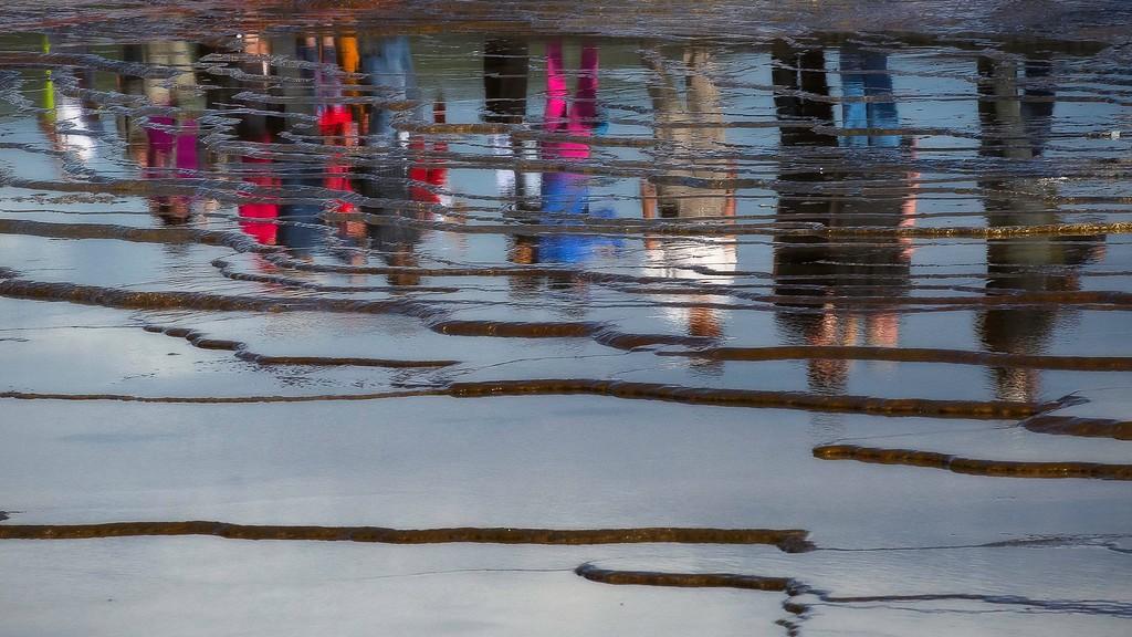 Reflection; Grand Prismatic; Yellowstone National Park; Wyoming; USA