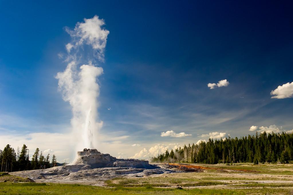Castle Geyser; Yellowstone National Park; Wyoming; USA